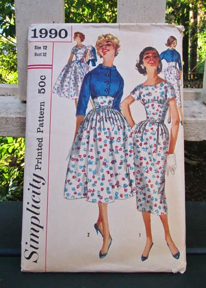 Simplicity 1990 dress pattern