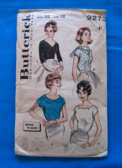 Butterick 9273 vintage sewing pattern