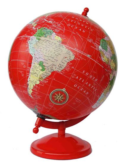 Red vintage globe