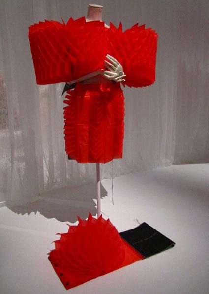 Hiroaki Ohya polyester honeycomb dress